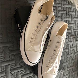 White elastic converse
